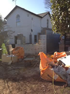 First floor extension underway with blockwork and insulation